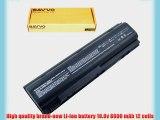 Bavvo 12-cell Laptop Battery for HP Compaq 396600-001 398752-001 HSTNN-DB10 HSTNN-DB17 HSTNN-IB09