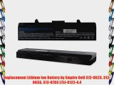 Replacement Lithium Ion Battery by Empire Dell 312-0625 312-0633 312-0763 LTLI-9122-4.4