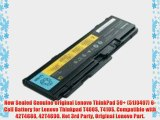 New Sealed Genuine Original Lenovo ThinkPad 59  (51J0497) 6-Cell Battery for Lenovo Thinkpad