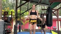 Kathrine : Tiger Muay Thai guest training highlight reel ( Eye of the Tiger )