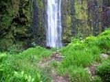 in hawaii, maui a 400 foot waterfall