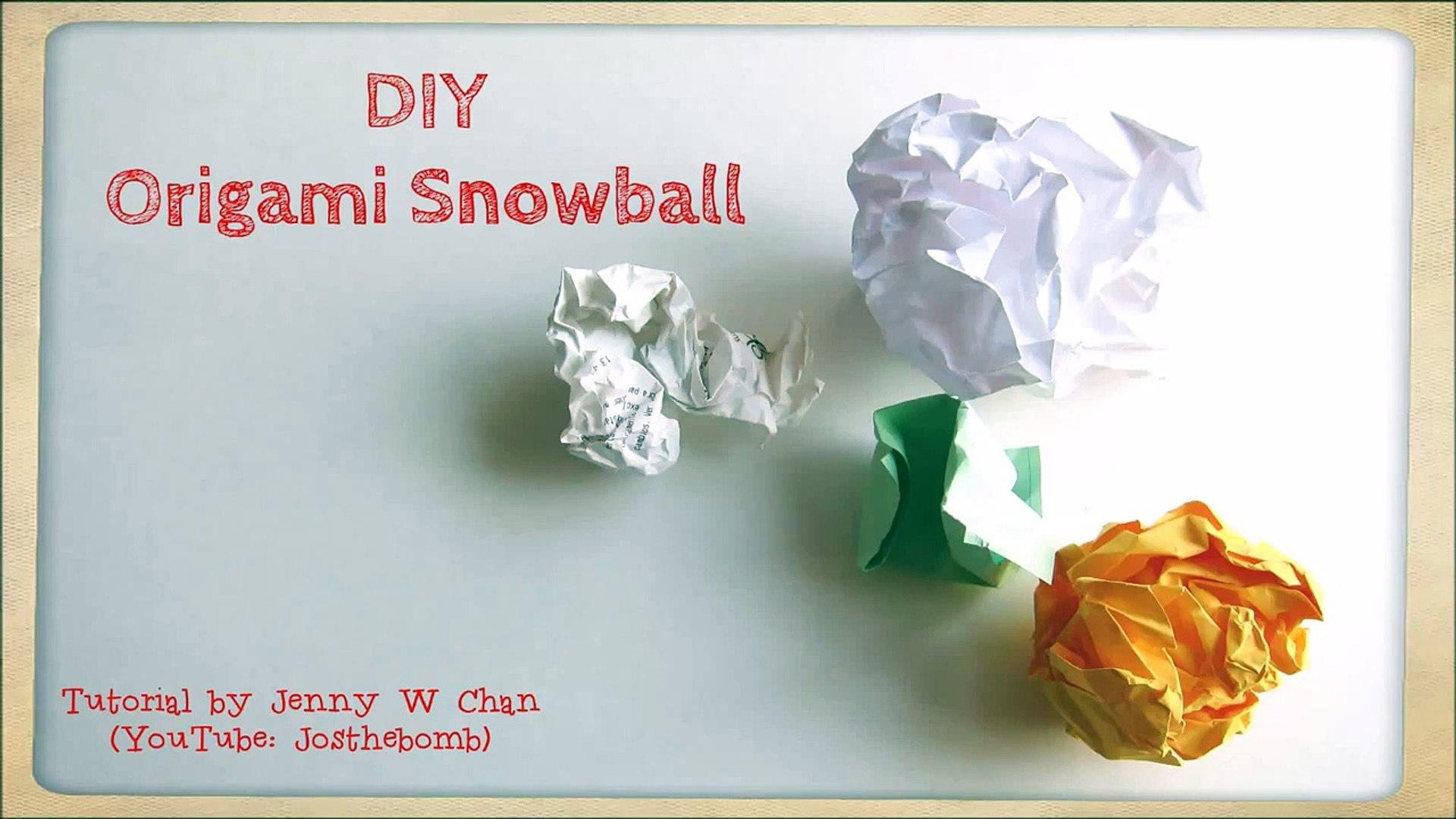 origami【Snowman】 - YouTube | 1080x1920