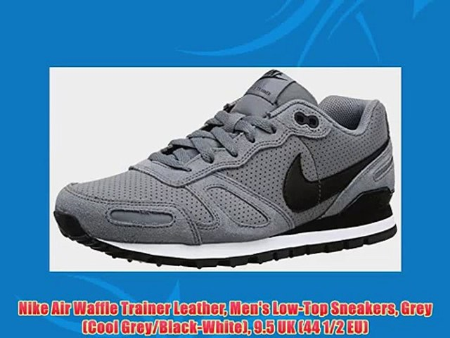 Nike Air Waffle Trainer Leather Men's Low Top Sneakers Grey (Cool GreyBlack White) 9.5 UK