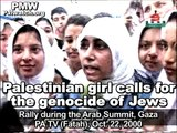 Palestinian girl calls for genocide of Jews on Palestinian Authority TV
