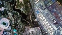 2 minutes de grandes villes vues de l'espace
