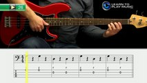 Ex026 How to Play Bass Guitar   Slap Bass Guitar Lessons for Beginners