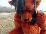 Red XIII Cosplay Fursuit Costume and Rick Astley (reupload)