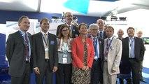 Ségolène Royal visite le pavillon Corac : innovations des constructeurs et des opérateurs aériens en faveur du climat
