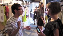 NYFW: Christian Siriano Spring 2012 Backstage Interview with Christian + Heidi Klum