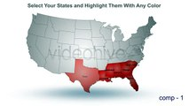 USA MAP ANIMATION - AFTER EFFECTS & INTERACTIVE WORDPRESS PLUGIN