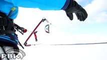 Skiing Canada Kite Snowkiting Toronto Ontario Flysurfer Viron 4m Snowkiting Kite