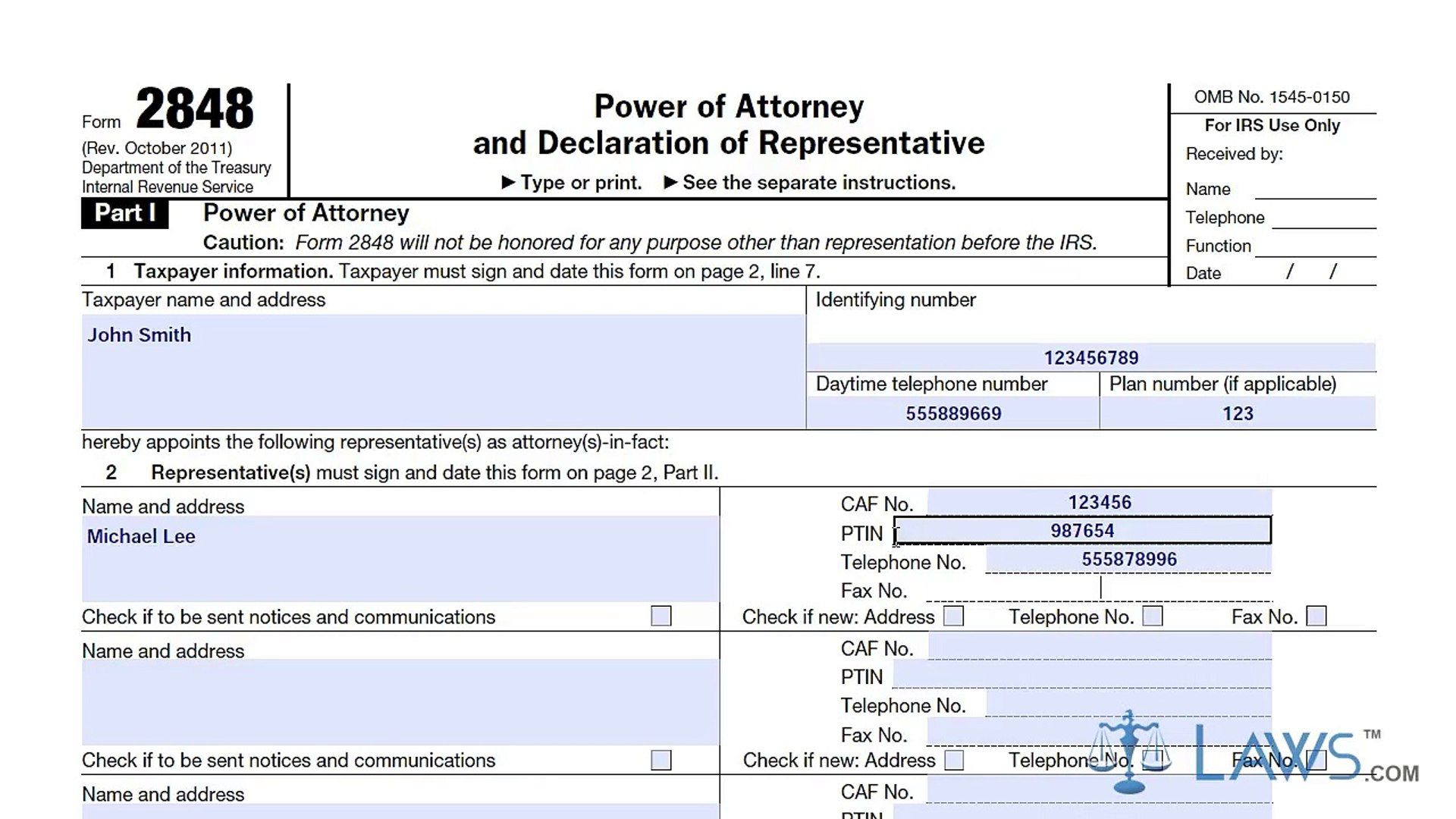power of attorney form 2848  Learn How to Fill the Form 14 Power of Attorney and Declaration of  Representative