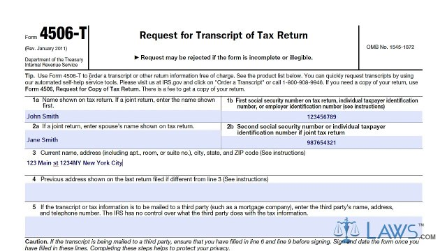 Learn How to Fill the Form 4506-T Request for Transcript of Tax Return
