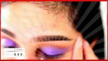 Purple Cut Crease   Prom Clubbing Makeup Tutorial new 2015
