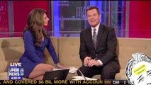 Fox Anchor Pulls Up Skirt...while on air!