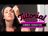 Summer Foundation Routine! How to Make Your Face Makeup Look Good in the Heat!