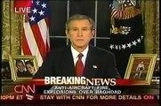 The Iraq Invasion Archive-George W Bush announces his illegal invasion of Iraq