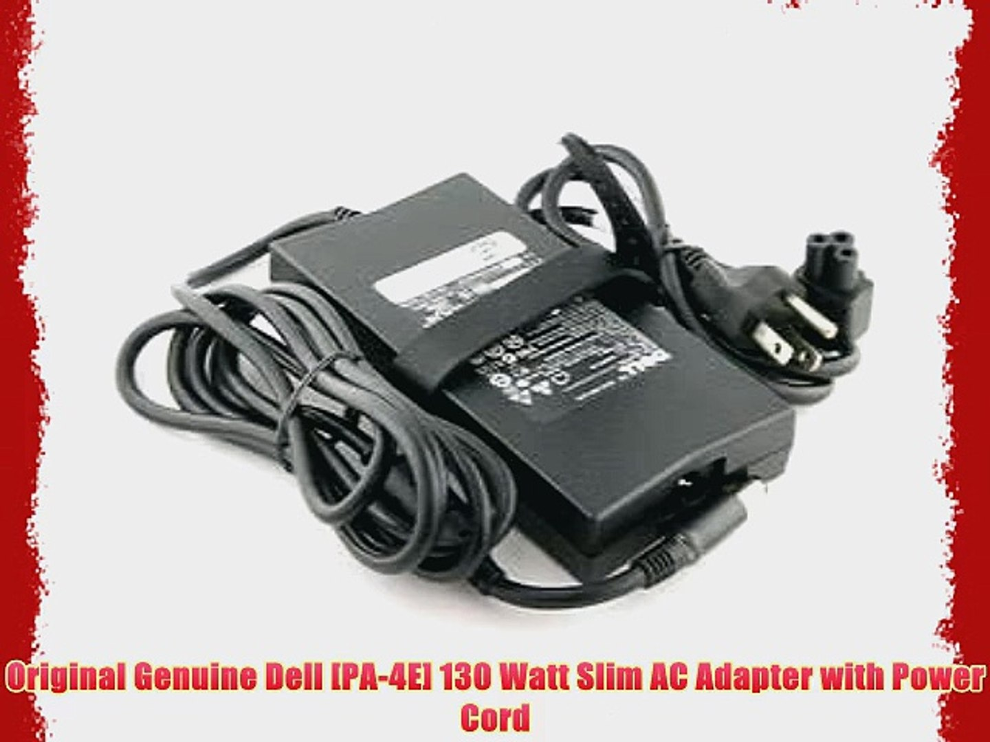 DELL 19.5V 6.7A 130W Replacement AC Adapter for DELL Notebook Models 100% Compatible with DELL