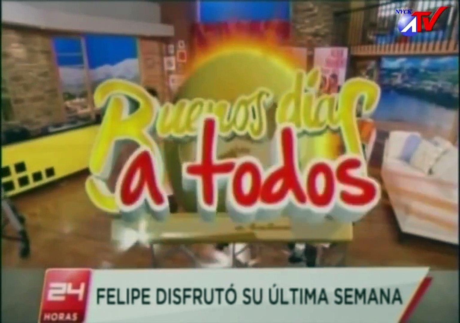 Felipe Camiroaga Sus ultimos 5 dias. en el matinal Buenos dias a todos