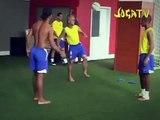 Freestyle Football Ronaldinho Robinho and Roberto carlos and Stickman
