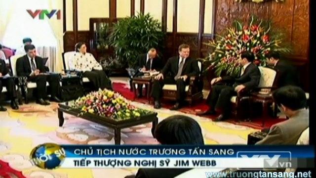 Ông Trương Tấn Sang tiếp thượng nghị sĩ Jim Webb