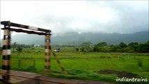 india travel@ scenic drive by indian railways train,neral to shelu, thane, maharashtra, india
