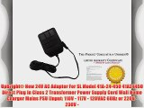 UpBright? New 24V AC Adapter For SL Model 41A-24-450 41A24450 Direct Plug In Class 2 Transformer