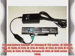 External Battery Charger for Gateway M 150 series M 150S M 1