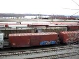 Enola Yard; mixed freight train and humping operation