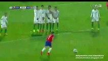 Alexis Sánchez Fantastic Free-kick Hits the Post - Chile v. Bolivia 19.06.2015