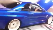 R34 GTR Skyline Dyno run , 791HP AT ALL 4 wheels , TOP RPM DYNO DAY
