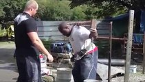 Strongman Training for worlds strongest man 2011  Jack & Felix