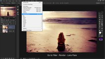 Lens Flare (non destructive) - Photoshop CC Tutorial 2015