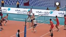 Iranian volleyball match played despite a ban for female fans