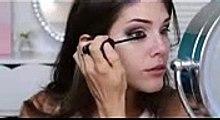 Vampy Makeup Tutorial   Winged Eye Liner, Brown Eyes , Vampy Lips