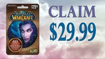 How to Redeem World of Warcraft (WOW) 60 day Subscription card online generator 30$ tested in 2015