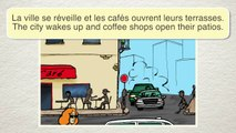 French cartoon with English subtitles ~ S8e11 - Manger sur la terrasse