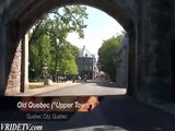 Old Quebec City, Quebec, Canada. by motorcycle