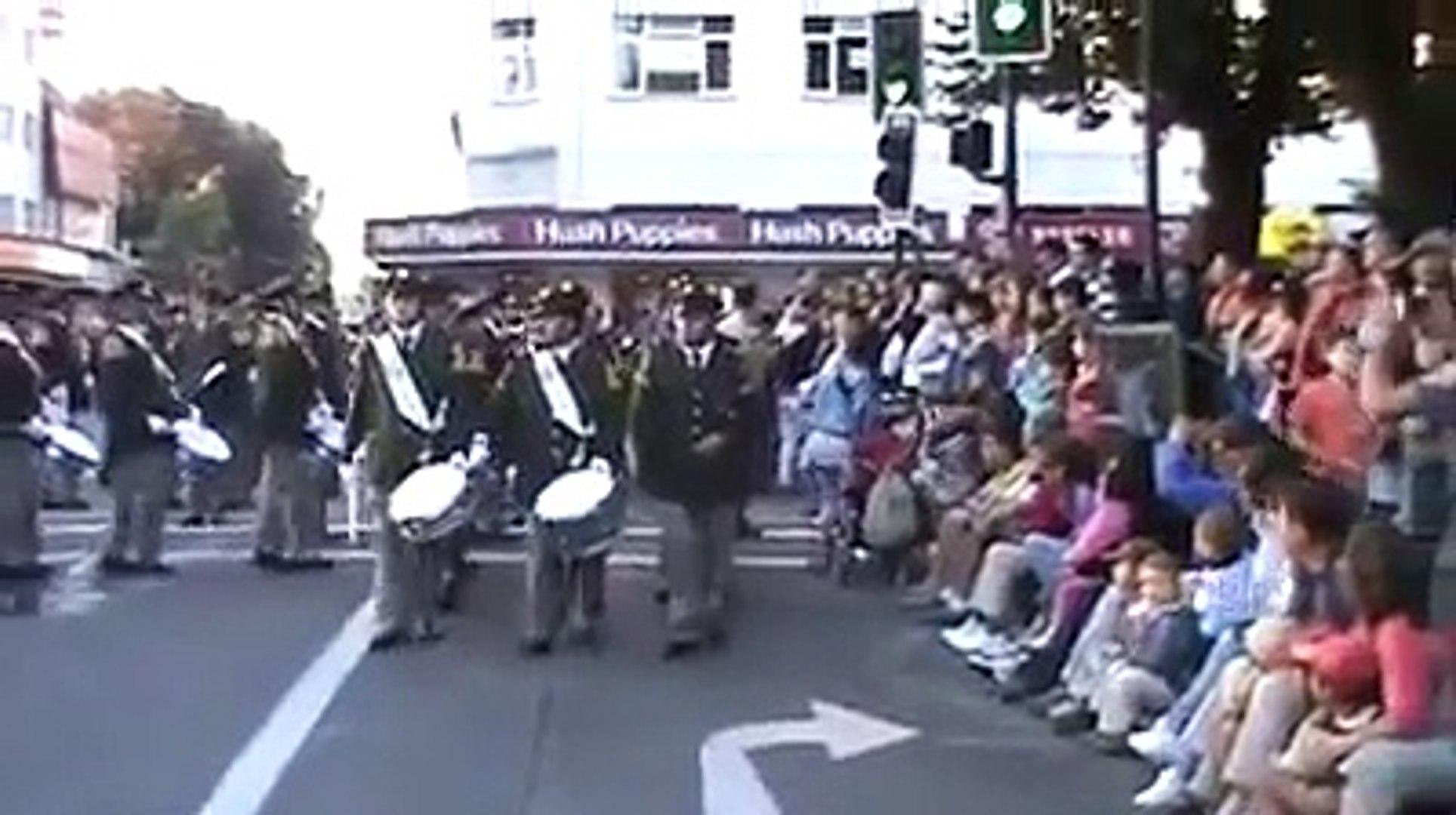 Banda De Honor del Cuerpo de Bomberos de Valdivia. Encajonamiento