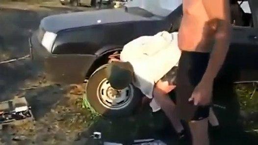 d marrer sa voiture avec une batterie morte et sans rentrer dedans vid o dailymotion