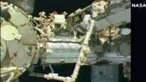 WATCH: 'UFO' spotted above astronaut as he repairs ISS | UFO Caught On Camera By NASA (Vid