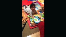 Baby dancing , my 5 months old baby dancing :)