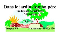Guitar Tutorial - Dans le jardin de mon père (Sheet music - Guitar chords)