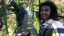 Binod Ranabhat's Bungy Jumping, 525 ft (160 m) Thrilling Jump at The Last Resort, Nepal