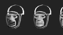 3D poly modeling steps of a human head