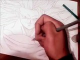 Dibujando y coloreando a Goku Ssj3/ How to drawing and coloring Goku Ssj3 (Dragon ball z)