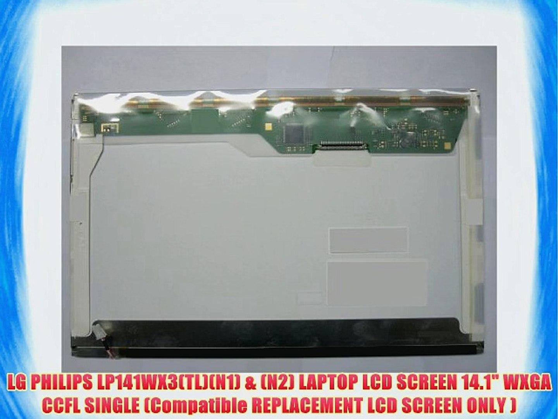 "LG PHILIPS LP141WX3 TL N2 LAPTOP LCD Screen LP141WX3-TLN2 14.1/"" WXGA CCFL"
