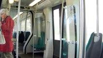 Ritje met RET metro SG3 5605 tussen Romeynshof en Oosterflank Rotterdam