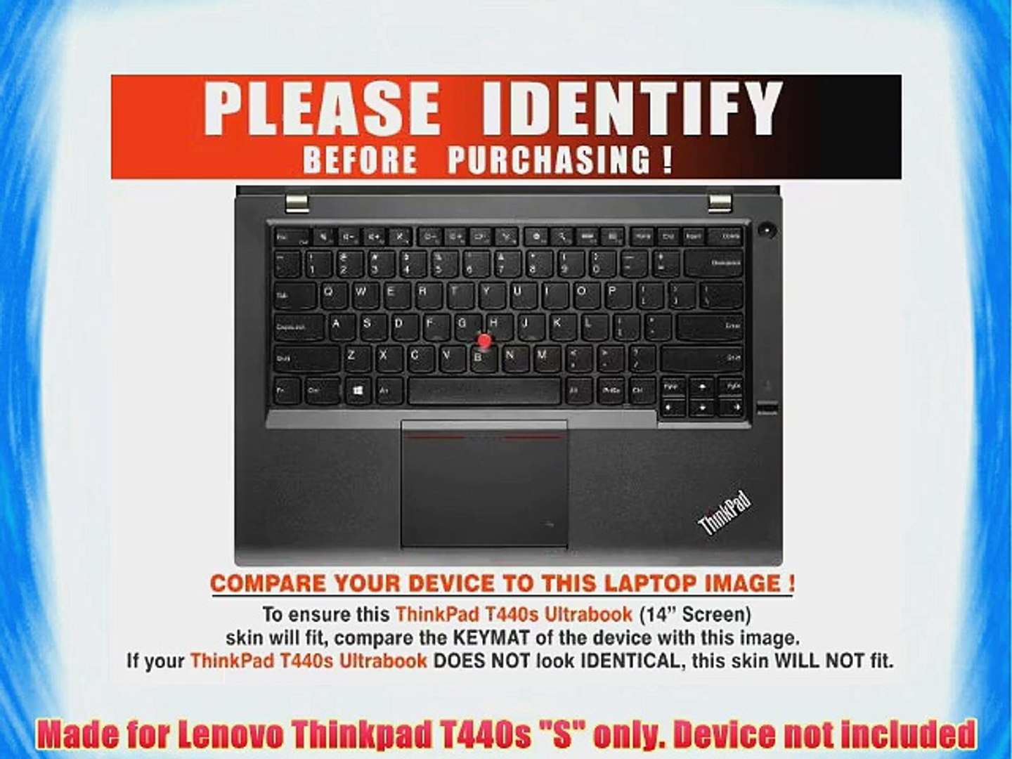 Decalrus - Lenovo Thinkpad T440s S 14 Screen BLUE Texture Carbon Fiber skin  skins decal for
