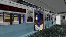 OpenBVE Train Simulator Gameplay - NYCT R142 R142A (4) Subway Train New Lots